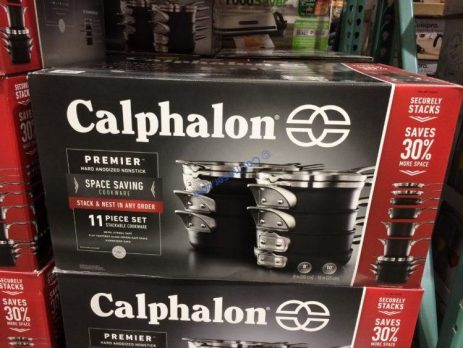 Calphalon Premier 11 Piece Space Saving Cookware Set