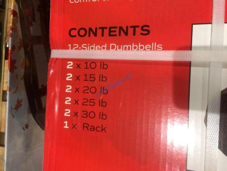 Costco-1231412-CAP-Barbell-200LB-Dumbbell-Set-Horizontal-Rack-part
