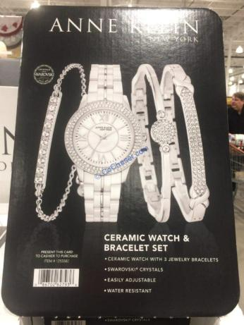 Costco-1255589-Anne-Klein-New-York -Pink -Ceramic –Watch-Bracelet-Set4