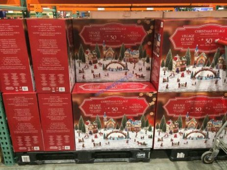 30pc Christmas Village With Lights And Music Costcochaser