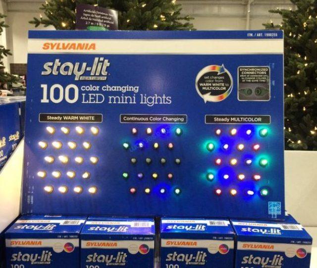 Sylvania Color Changing Led Christmas Lights Sylvania Ct Led Mini Lights Color Changing U Costcochaser