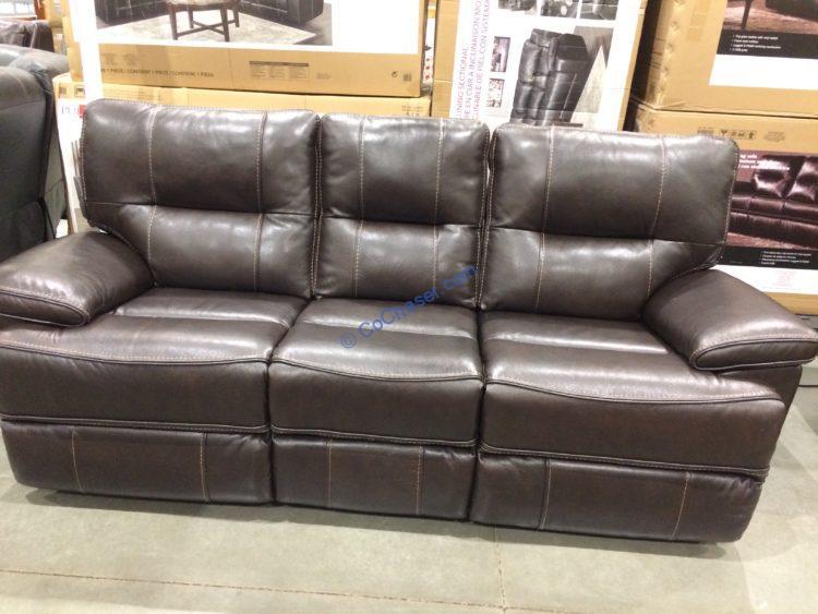 leather power reclining sofa costcochaser