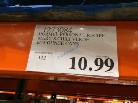 Costco-1273084-Hormel-Personal-Recipe-Marys-Chili-Verde-tag