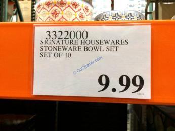 Costco-3322000-Signature-Housewares-Stoneware-Bowl-tag