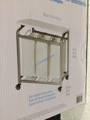 Costco-579772-Seville-3Bag-laundry-Sorter-with-Folding-Table-size