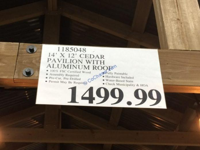 Costco-1185048-Cedar-Pavilion-with-Aluminum-Roof-tag