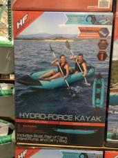 2 Person Kayak Costco >> Hydro Force Inflatable Kayak 2 Aluminum Paddles Costcochaser