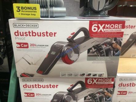 Black Amp Decker Dustbuster 20v Pivot Auto Vacuum Costcochaser