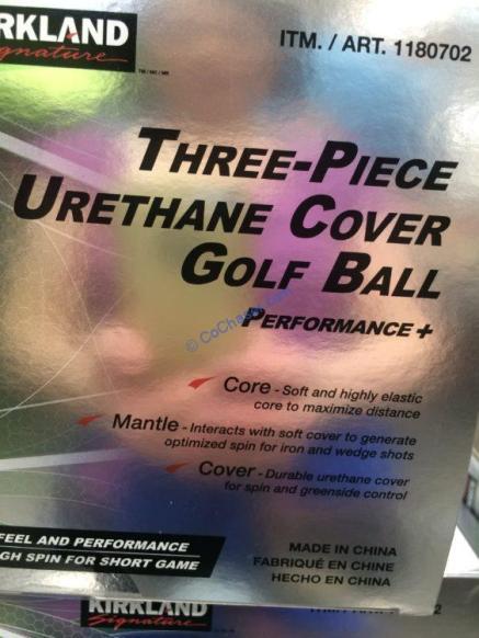 Costco-1180702-Kirkland-Signature-3-piece-Urethane-Cover-Golf-Ball-part