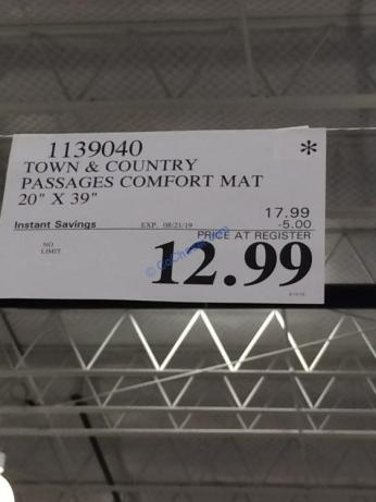 Costco-1139040-Town-Country-Living-Passages-Comfort-Mat-tag