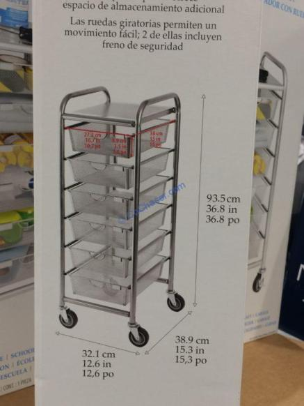 Costco-1237485-6-DrawerMesh-Organizer-Cart-size