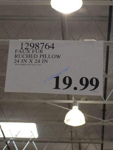 Costco-1298764-Faux-Fur-Ruched-Pillow-tag