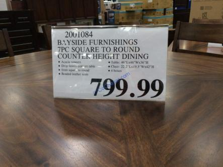 Costco-2001084-Bayside-Furnishings-7PC-Counter-Height-Square-to-Round-Dining-Set-tag