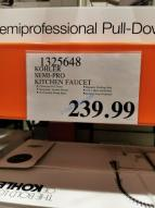 Costco-1325648-Kohler-Semiprofessional-Kitchen-Faucet-tag
