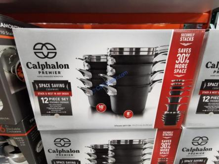 Costco-1348304-Calphalon-Premier-12-piece-Space-Saving-Cookware-Set1