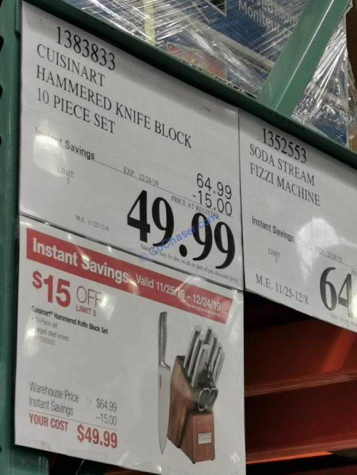 Costco-1383833-Cuisinart-10-piece-Hammered-Handle-Knife-Block-Set-tag