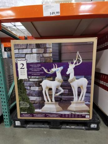Costco-1900271-LED-Lighted-Pedestal-Deer1