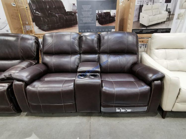 barcalounger leather power reclining