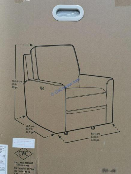 Costco-1335605-Thomasville-Fabric-Power-Glider-Recliner-size
