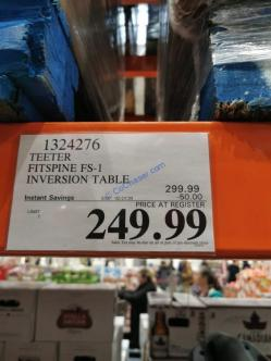 Costco-1324276-Teeter-Fitspine-FS-1-Inversion-Table-tag