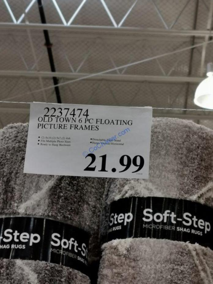 Costco-2237474-Old-Town-6PC-Floating-Picture-Frames-tag