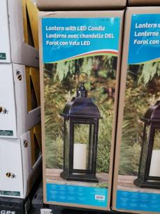 Costco-1902220-Steel-Lantern-with-LED-Candle1