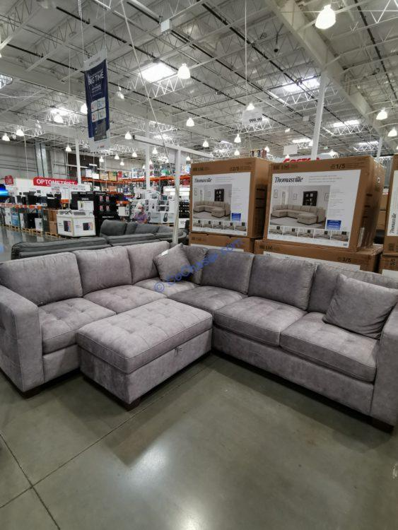 thomasville fabric sectional with