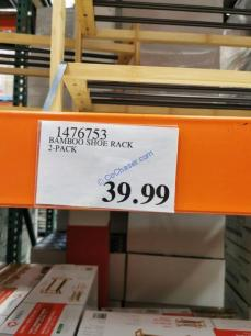 Costco-1476753-TRINITY-Bamboo-Shoe-Rack-tag