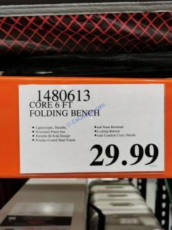 Costco-1480613-CORE-6FT-Folding-in-Half-Bench-tag
