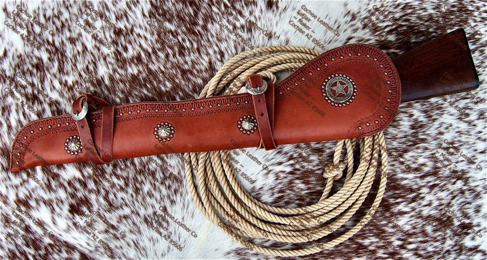 Rifle Western Leather Scabbard Patterns