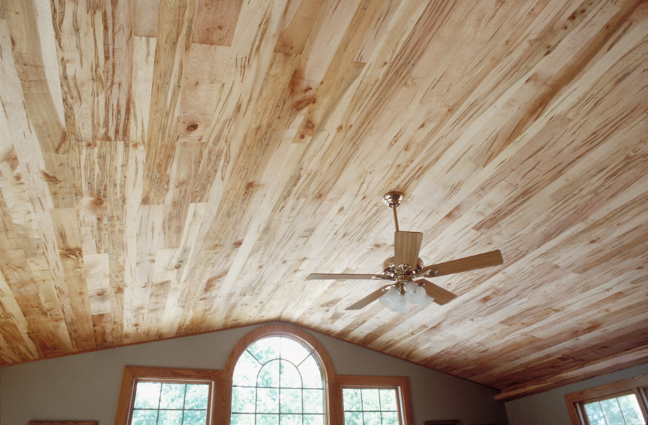 Wormy Maple Ceiling Paneling