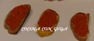 tostas de pate anchoas con pimientos piquillo
