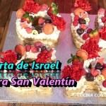 Receta de Tarta para San Valentin – Tarta Israel de Letras