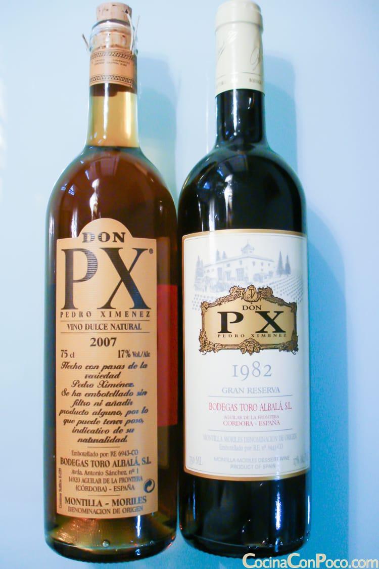 Pedro Ximenez Jimenez PX vino dulce