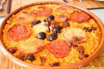 Arroz al horno - receta Valencia