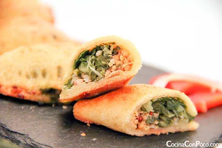 Empanadillas de acelgas y mostaza - Sin gluten - Paso a paso