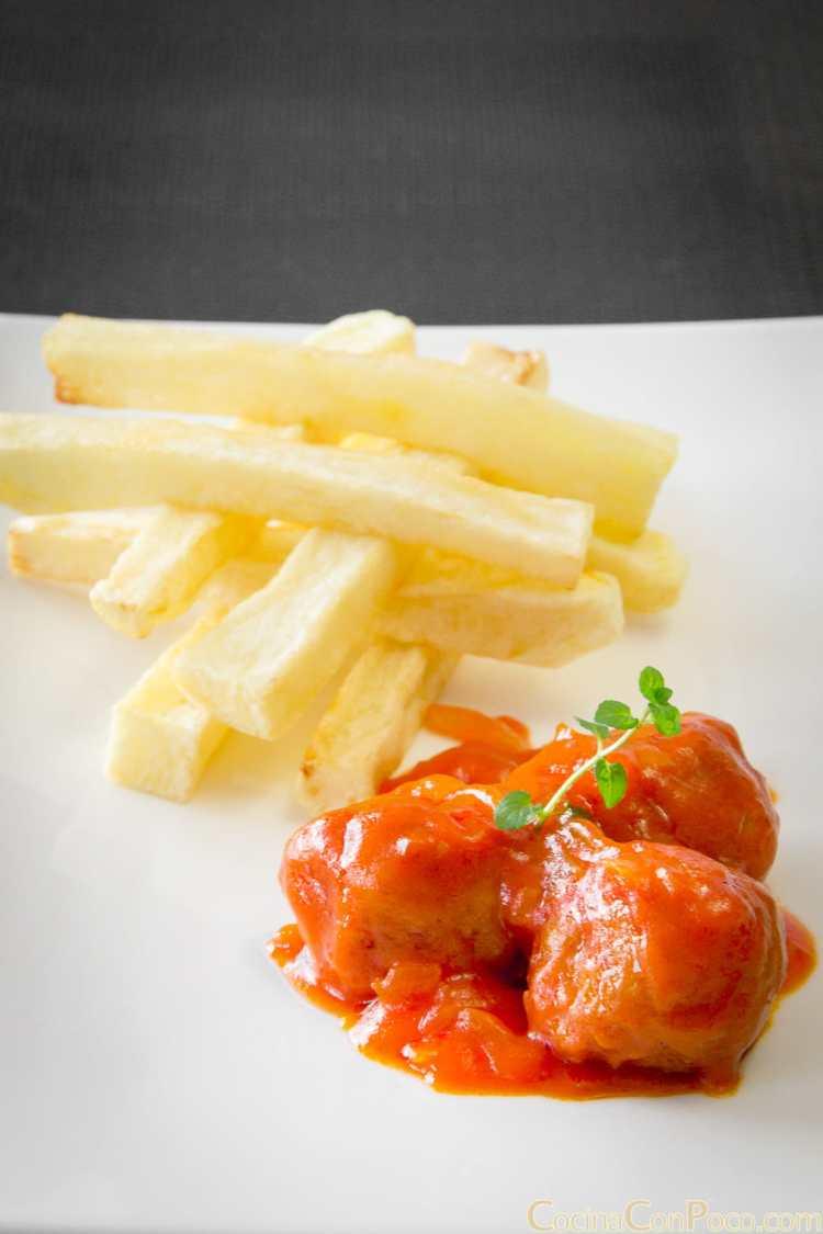 Albóndigas con tomate – Paso a paso