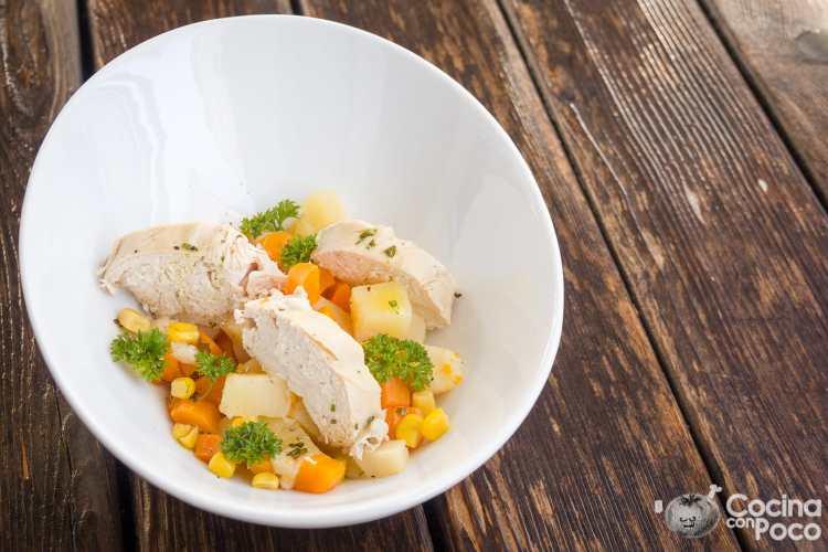 ensalada de pollo receta