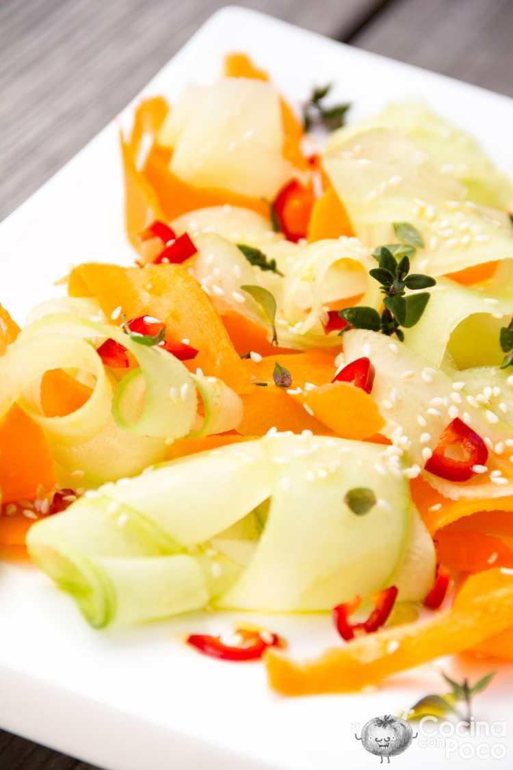 ensalada pepino zanahoria ligera verano