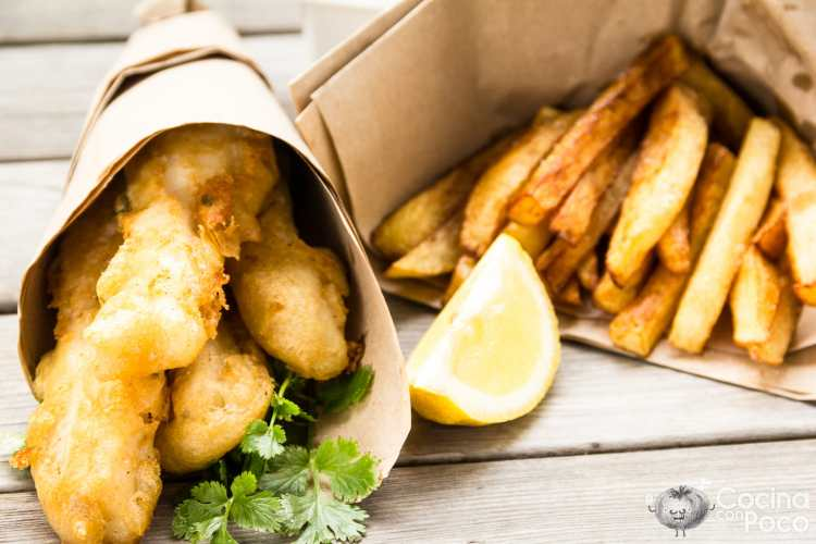 Fish and chips original – Paso a paso