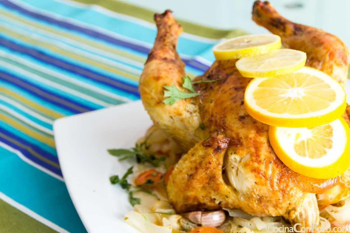 Pollo asado al horno cocina con poco recetas de cocina paso a paso con fotos - Cocina al horno ...