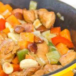 pollo con almendras chino receta fácil paso a paso