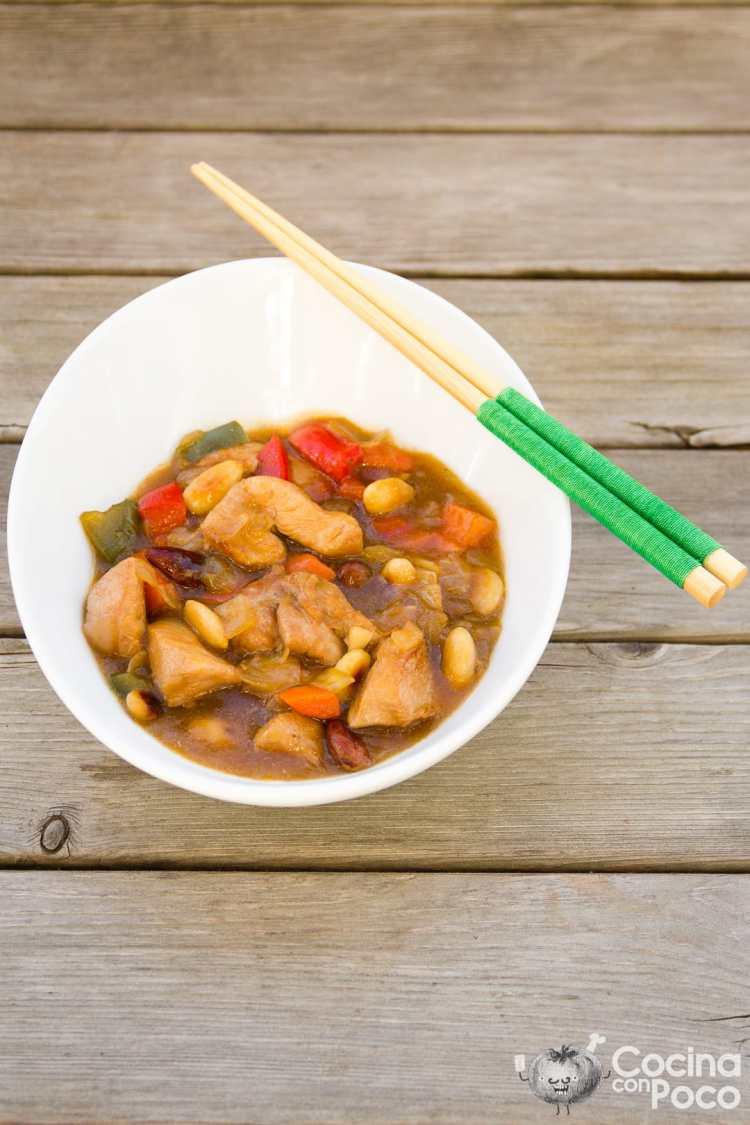 pollo con almendras chino receta facil paso a paso