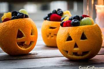 receta halloween para niños naranjas fruta