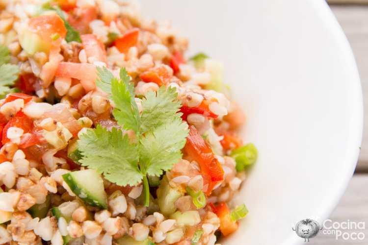 receta trigo sarraceno ensalada