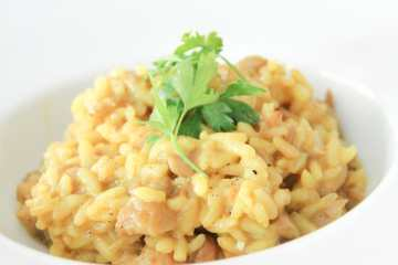 risotto de setas pavo y curry