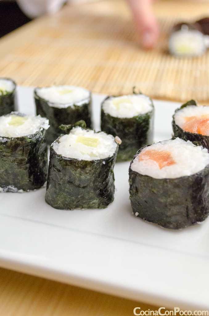 shusi maki de salmon atun pepino receta facil paso a paso