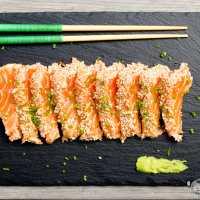 Tataki de salmón con sésamo - Paso a paso