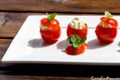 tomates cherry rellenos de queso philadelphia