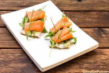 tosta de salmón ahumado recetas